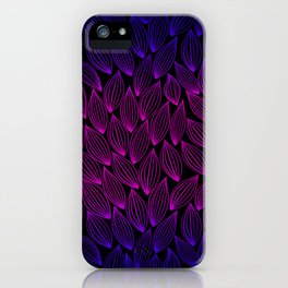 Autumn blue-pink leaf fall. iPhone Case