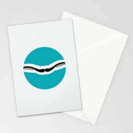 Chic moustache Stationery Cards