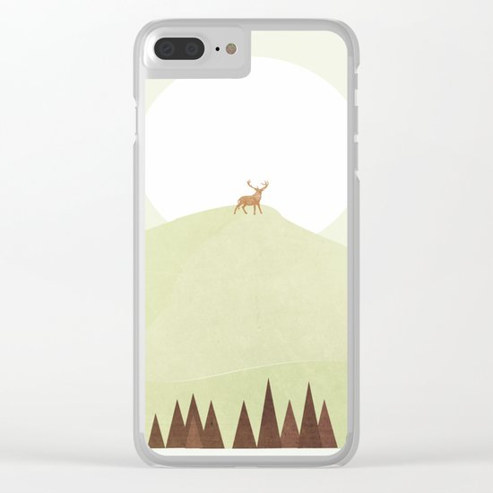 Dear Deer Clear iPhone Case