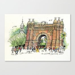 Arc de Triomf, Barcelona Canvas Print