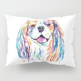 Cavalier King Charles Spaniel - Colorful Watercolor Painting Pillow Sham