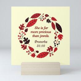 PROVERBS 31:10 Mini Art Print