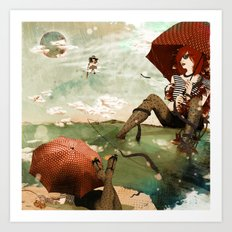 CLOUDWALKERS TWO Art Print