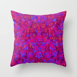web web, red and blue Throw Pillow