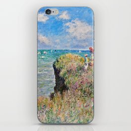 Claude Monet Cliff Walk At Pourville 1882 iPhone Skin
