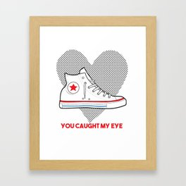 Converse Love Framed Art Print