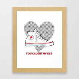Converse Love Framed Art Print