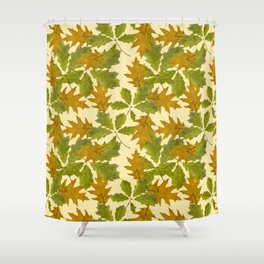 Leaves Camouflage Pattern Shower Curtain