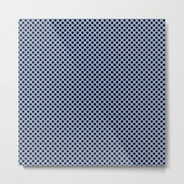 Serenity and Black Polka Dots Metal Print