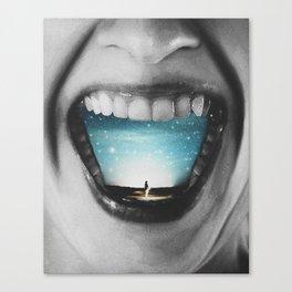 Shout out your dream Canvas Print