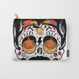 SKULL ROCK / Famous Musical Groups - Symbols - Digital Illustration Art - Pop Art - Wall Decor Carry-All Pouch