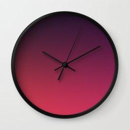 DEEP DISTILLED - Minimal Plain Soft Mood Color Blend Prints Wall Clock