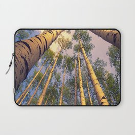 Aspen Trees Against Sky Laptop Sleeve