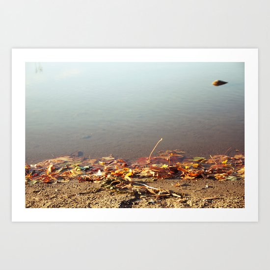 Autumn by the water Art Print