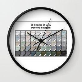 50 Shades Of Grey : Pantone Swatches - Pantone not Porn Wall Clock