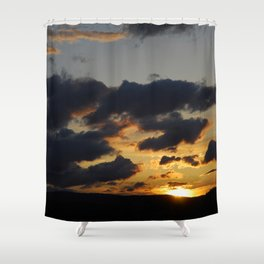I just love sunsets Shower Curtain