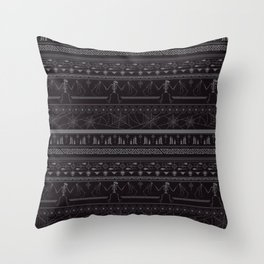 Creepin' it real - black & slate Throw Pillow