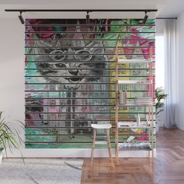 Alice Through The Cat House Wall Mural