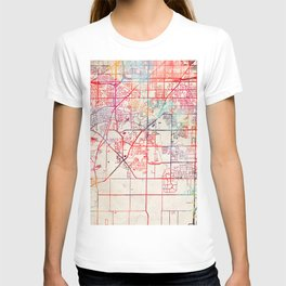 Franklin map Wisconsin WI T-shirt