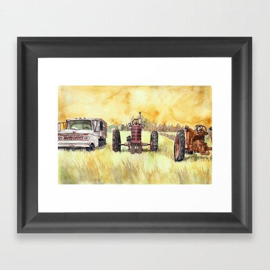 Retirees Framed Art Print