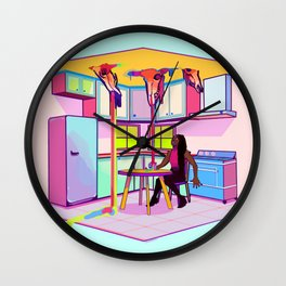 SPRING EXORCISM Wall Clock