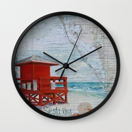 Red Life Guard Stand Wall Clock