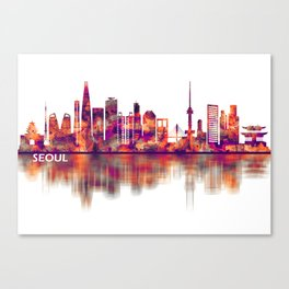 Seoul South Korea Skyline Canvas Print