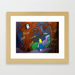 Alice in Wonderland in the Forbidden Forest Framed Art Print