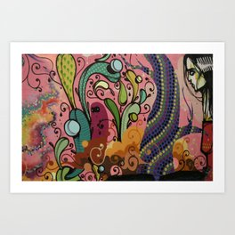 Street art from Brazil Art Print
