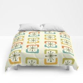 Mid Century Modern Starburst Shells Chartreuse Comforters