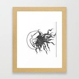 like the moon loves the night  Framed Art Print