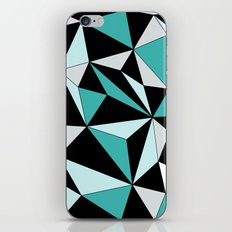 Geo - blue, gray and black. iPhone & iPod Skin