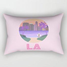Los Angeles City Art Rectangular Pillow