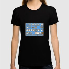 WASH AND IRON POETRY- LAUNDRY SYMBOLS T-shirt