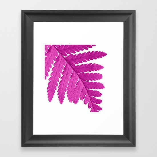 pink fern leaf I Framed Art Print