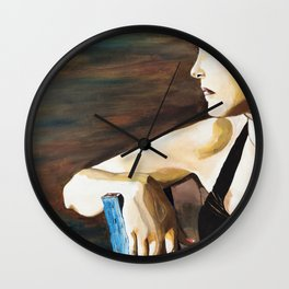 Waiting for the one inspired by Cyndi Lauper - by Amnon Michaeli Wall Clock