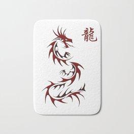 Asian Red Dragon Design Bath Mat
