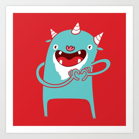 Monster Hearts You! Art Print