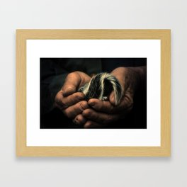 Barton & The Baby Squirrel Framed Art Print