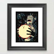 Vampirebot bites the Sun Framed Art Print