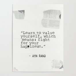 Ayn quote Poster