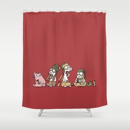 Gingerbread Shower Curtain