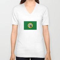 washington V-neck T-shirts featuring WASHINGTON  by Jayrosco