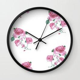 English Tea Roses Wall Clock
