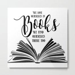 Book Quotes Metal Print