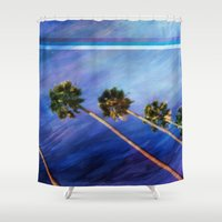 palms Shower Curtains featuring Palms by Psocy Shop