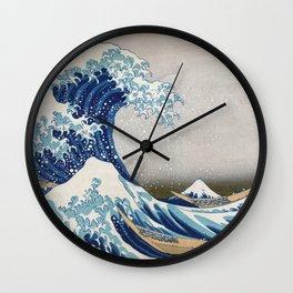 Under the Wave off Kanagawa - The Great Wave - Katsushika Hokusai Wall Clock