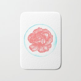 Carnation Birth Flower - January - Coral Bath Mat