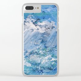Crashing waves Clear iPhone Case