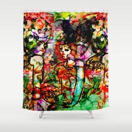 Papillons de Madame de Cirque Filles Shower Curtain